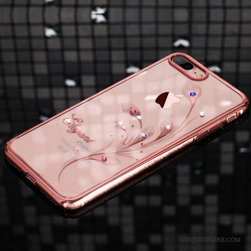 coque iphone 7 transparent rose