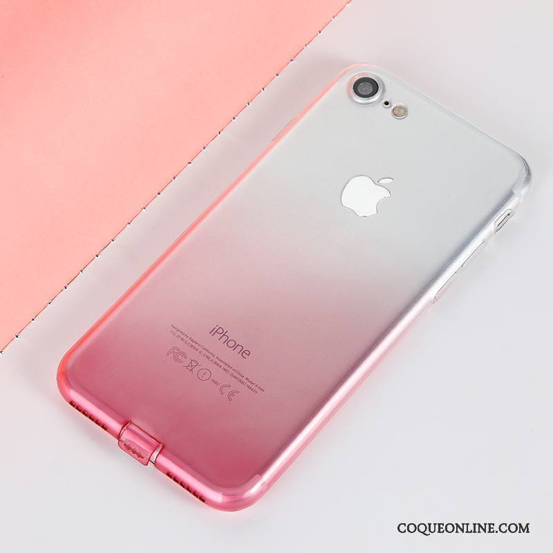 coque iphone 7 rouge sillicone
