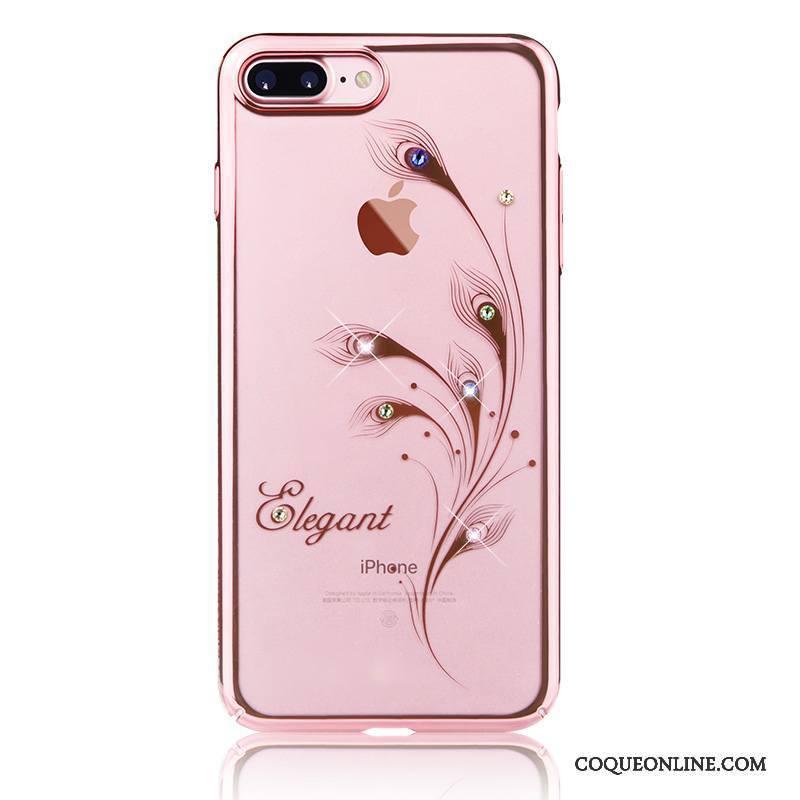 iPhone 7 Tout Compris Or Coque Or Rose De Téléphone Strass Étui