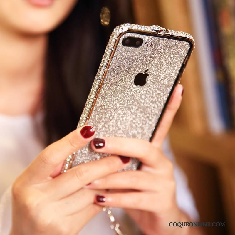 iPhone 8 Plus Incassable Coque Protection Nouveau Étui Border Strass