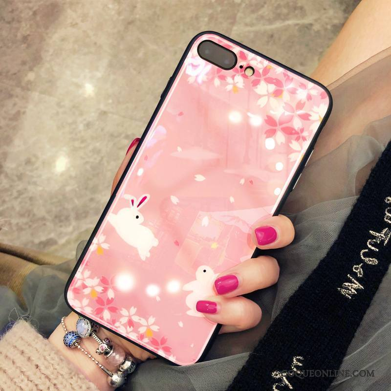 coque iphone 8 rouge rose