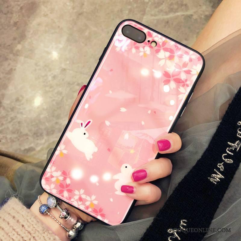 iPhone 8 Plus Miroir Coque De Téléphone Protection Rose Étui Net Rouge Nouveau 1462
