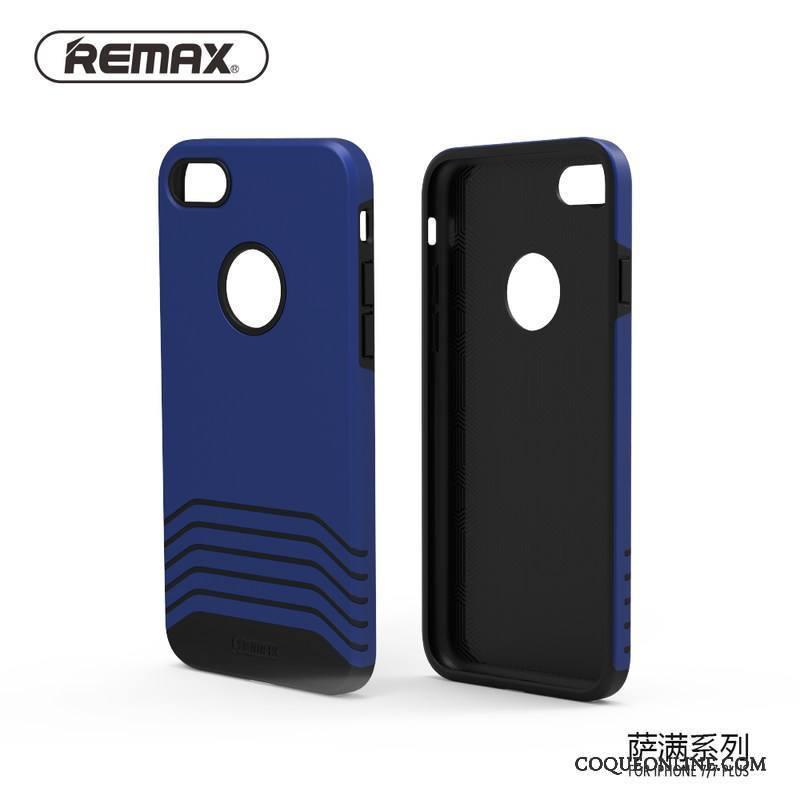iPhone 8 Tendance Coque Bleu Téléphone Portable Silicone Étui Incassable