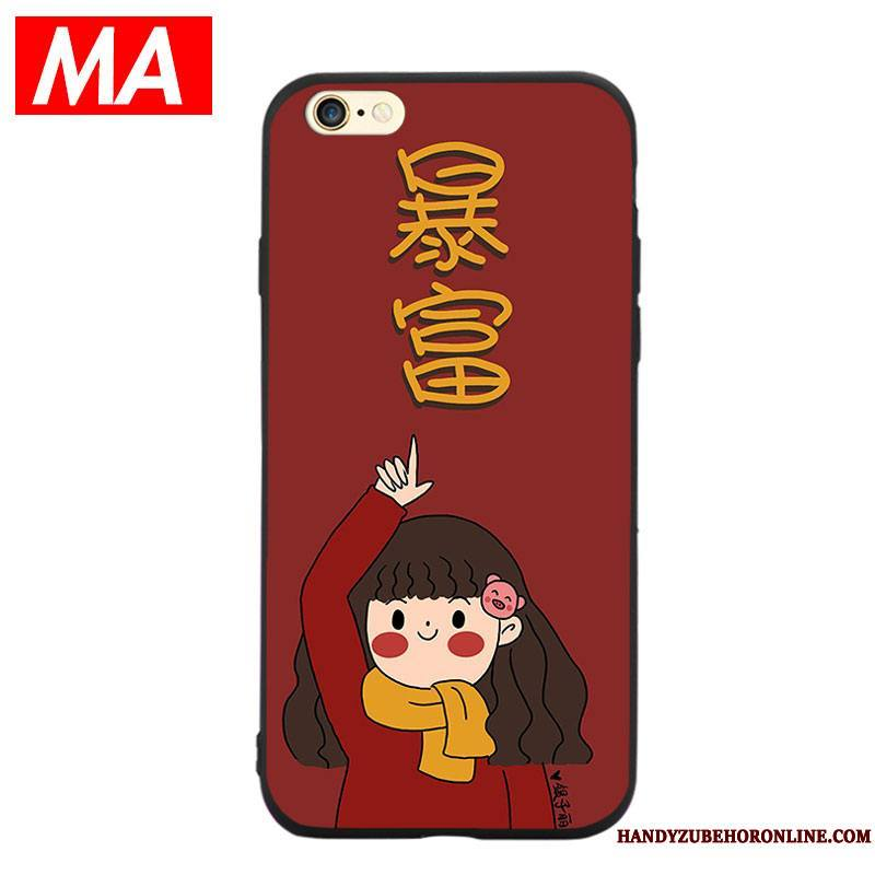iPhone Se 2020 Protection Étui Fluide Doux Richesse Coque Rouge Longue