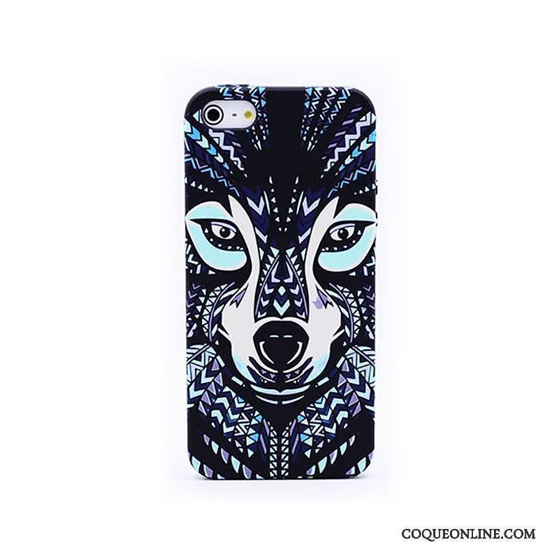 iPhone Se Coque Délavé En Daim Animal Lumineuses Étui Gaufrage Protection Dessin Animé 265