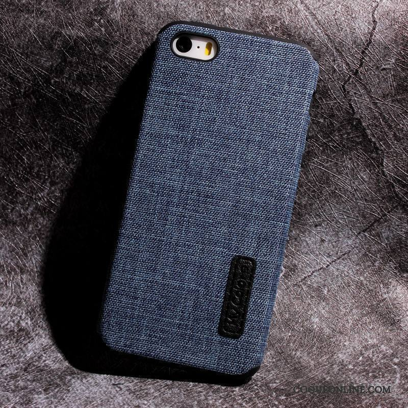 iPhone Se Incassable Personnalité Coque De Téléphone Bleu Simple Étui