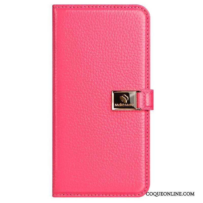 iPhone X Clamshell Coque De Téléphone Étui Créatif Rouge Étui En Cuir Incassable