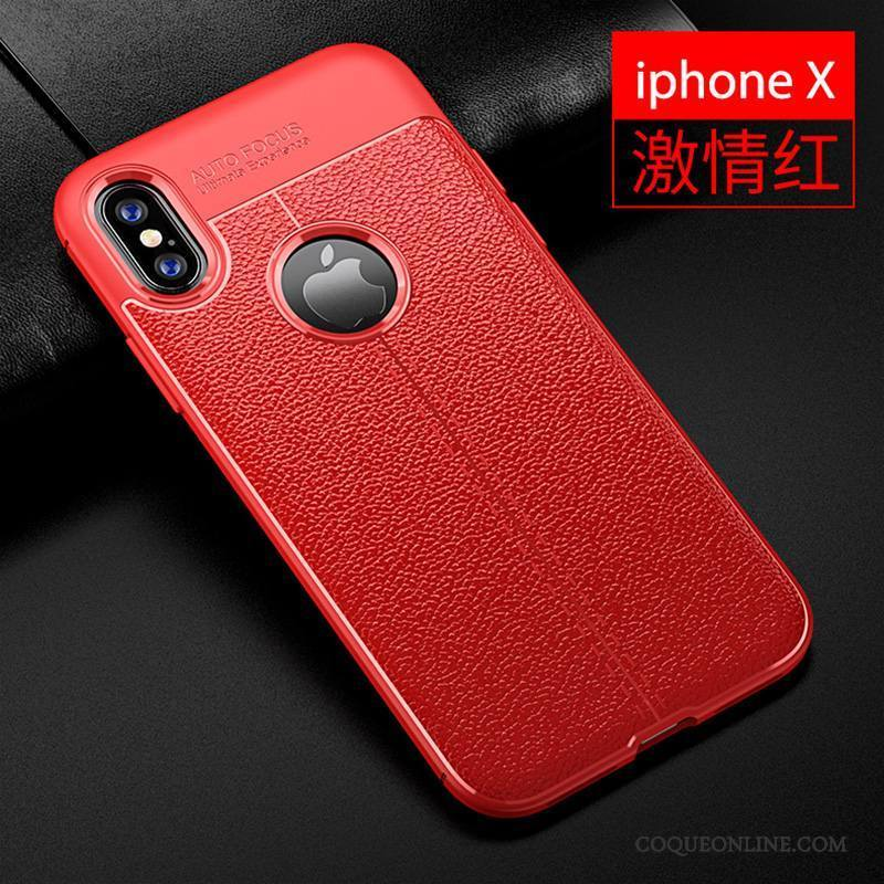 coque rouge silicone iphone x