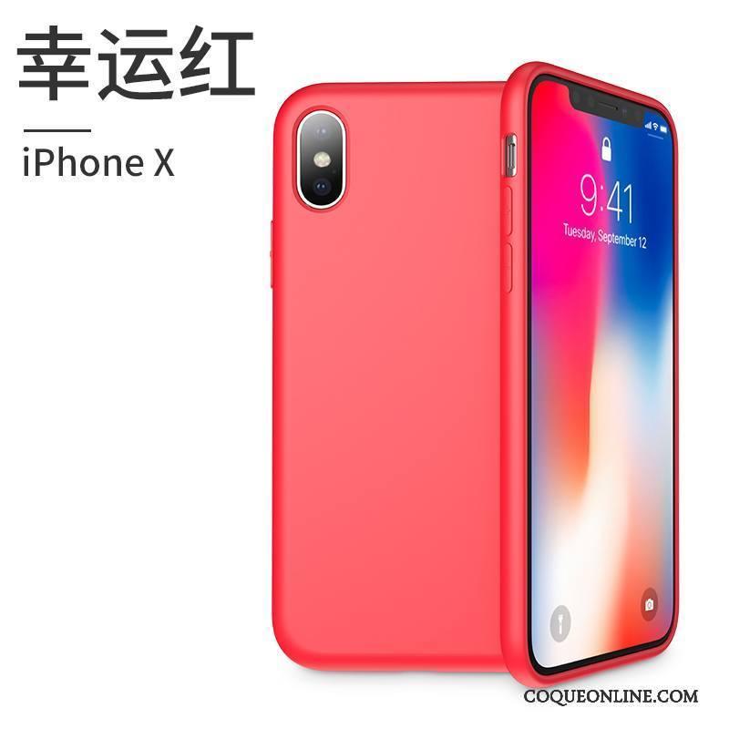Iphone X Tout Compris Silicone Coque De Téléphone Rouge Étui Marque De  Tendance Nouveau Pas Cher ac8fd2ed42a0
