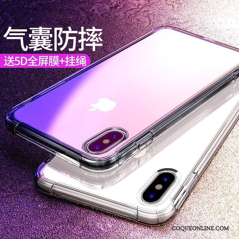 coque iphone x rouge transparent