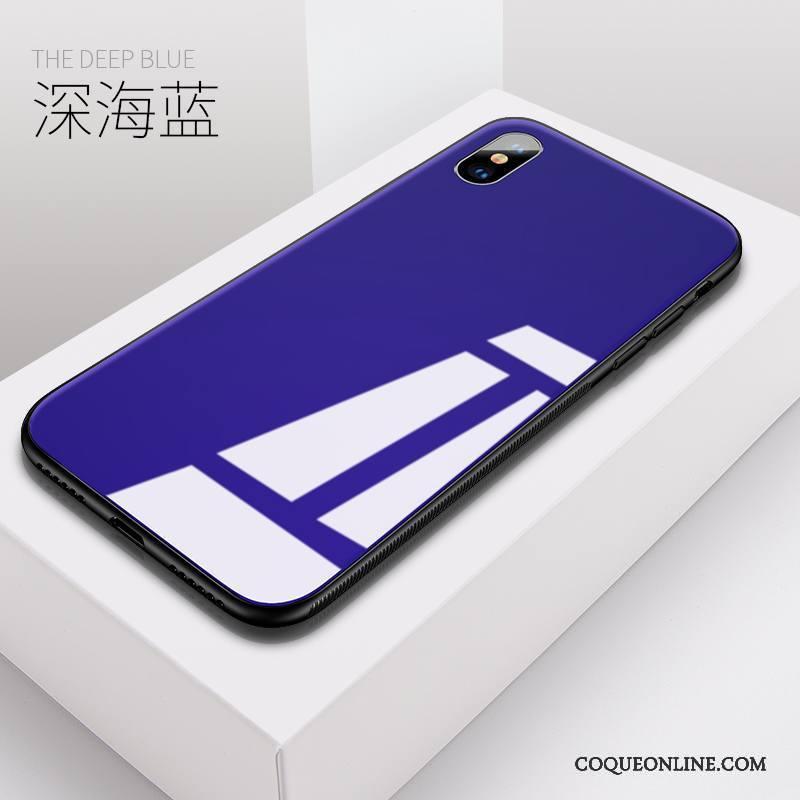 coque silicone iphone x bleu