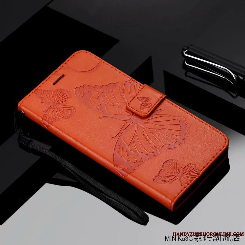 iPhone Xs Max Coque Orange Housse Étui En Cuir Silicone Tout Compris Protection Incassable